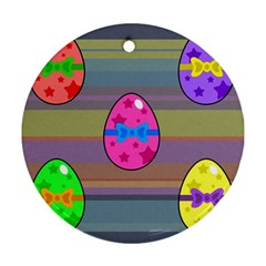 Holidays Occasions Easter Eggs Round Ornament (two Sides) by Nexatart