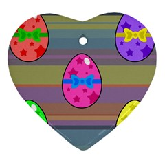 Holidays Occasions Easter Eggs Heart Ornament (two Sides) by Nexatart