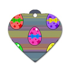 Holidays Occasions Easter Eggs Dog Tag Heart (one Side)