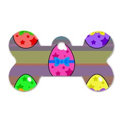 Holidays Occasions Easter Eggs Dog Tag Bone (two Sides) by Nexatart