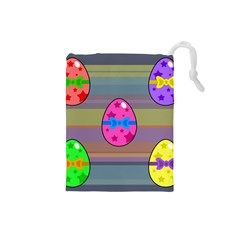 Holidays Occasions Easter Eggs Drawstring Pouches (small)