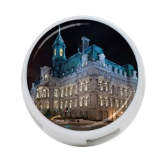 Montreal Quebec Canada Building 4 Port Usb Hub (one Side) by Nexatart