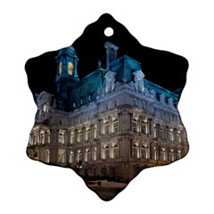 Montreal Quebec Canada Building Snowflake Ornament (two Sides) by Nexatart
