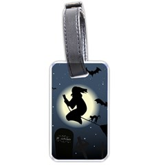 Halloween Card With Witch Vector Clipart Luggage Tags (one Side)
