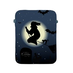 Halloween Card With Witch Vector Clipart Apple Ipad 2/3/4 Protective Soft Cases