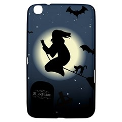 Halloween Card With Witch Vector Clipart Samsung Galaxy Tab 3 (8 ) T3100 Hardshell Case
