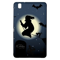 Halloween Card With Witch Vector Clipart Samsung Galaxy Tab Pro 8 4 Hardshell Case by Nexatart