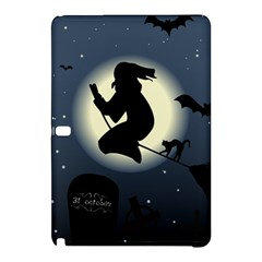 Halloween Card With Witch Vector Clipart Samsung Galaxy Tab Pro 12 2 Hardshell Case by Nexatart