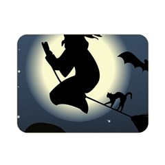 Halloween Card With Witch Vector Clipart Double Sided Flano Blanket (mini)