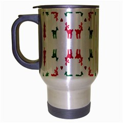 Reindeer Pattern Travel Mug (silver Gray) by Nexatart