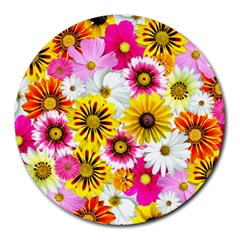 Flowers Blossom Bloom Nature Plant Round Mousepads