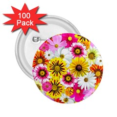 Flowers Blossom Bloom Nature Plant 2 25  Buttons (100 Pack)