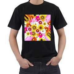 Flowers Blossom Bloom Nature Plant Men s T Shirt (black) (two Sided) by Nexatart