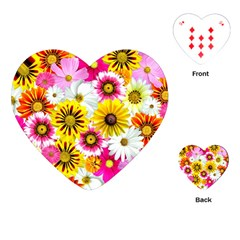 Flowers Blossom Bloom Nature Plant Playing Cards (heart)  by Nexatart