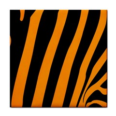 Tiger Pattern Tile Coasters