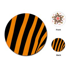 Tiger Pattern Playing Cards (round)