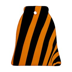 Tiger Pattern Bell Ornament (two Sides)