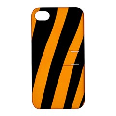 Tiger Pattern Apple Iphone 4/4s Hardshell Case With Stand by Nexatart
