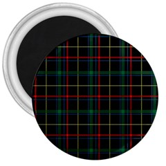 Plaid Tartan Checks Pattern 3  Magnets by Nexatart