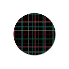 Plaid Tartan Checks Pattern Magnet 3  (round)