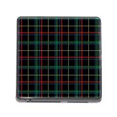 Plaid Tartan Checks Pattern Memory Card Reader (square)