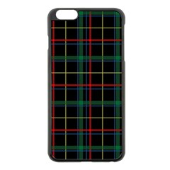 Plaid Tartan Checks Pattern Apple Iphone 6 Plus/6s Plus Black Enamel Case by Nexatart