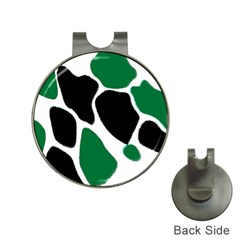 Green Black Digital Pattern Art Hat Clips With Golf Markers by Nexatart