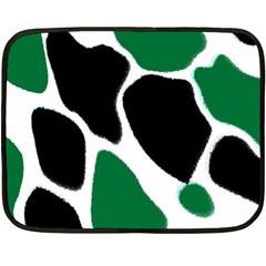 Green Black Digital Pattern Art Double Sided Fleece Blanket (mini)