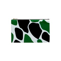 Green Black Digital Pattern Art Cosmetic Bag (small)