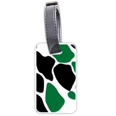 Green Black Digital Pattern Art Luggage Tags (two Sides) by Nexatart
