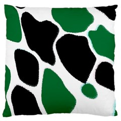 Green Black Digital Pattern Art Large Cushion Case (two Sides) by Nexatart
