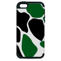 Green Black Digital Pattern Art Apple Iphone 5 Hardshell Case (pc+silicone) by Nexatart
