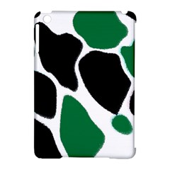 Green Black Digital Pattern Art Apple Ipad Mini Hardshell Case (compatible With Smart Cover)