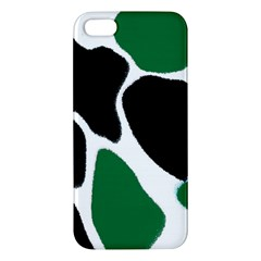 Green Black Digital Pattern Art Iphone 5s/ Se Premium Hardshell Case
