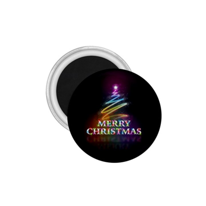 Merry Christmas Abstract 1.75  Magnets