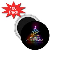 Merry Christmas Abstract 1 75  Magnets (100 Pack)  by Nexatart