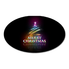 Merry Christmas Abstract Oval Magnet