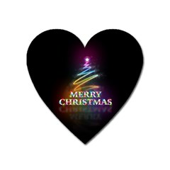 Merry Christmas Abstract Heart Magnet by Nexatart