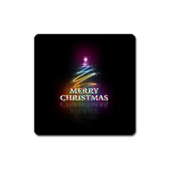 Merry Christmas Abstract Square Magnet by Nexatart