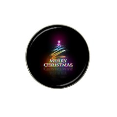 Merry Christmas Abstract Hat Clip Ball Marker (4 Pack) by Nexatart