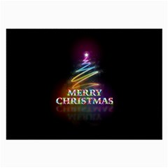 Merry Christmas Abstract Large Glasses Cloth (2 Side) by Nexatart