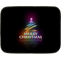 Merry Christmas Abstract Double Sided Fleece Blanket (mini)