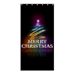 Merry Christmas Abstract Shower Curtain 36  X 72  (stall)  by Nexatart