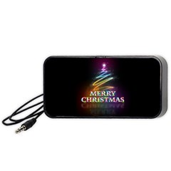 Merry Christmas Abstract Portable Speaker (black) by Nexatart