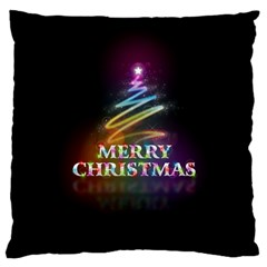 Merry Christmas Abstract Large Cushion Case (one Side) by Nexatart