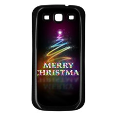 Merry Christmas Abstract Samsung Galaxy S3 Back Case (black)