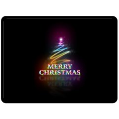 Merry Christmas Abstract Double Sided Fleece Blanket (large)  by Nexatart