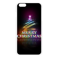 Merry Christmas Abstract Apple Seamless iPhone 6 Plus/6S Plus Case (Transparent) by Nexatart