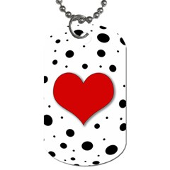 Red Heart Dog Tag (two Sides) by Valentinaart