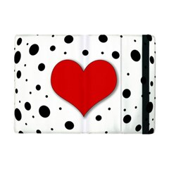 Red Heart Ipad Mini 2 Flip Cases by Valentinaart